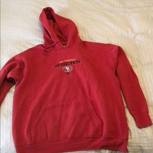 49ers hoodie embroidered logo Large